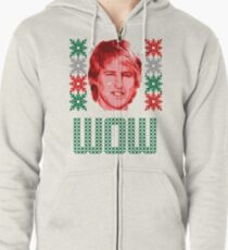 Owen Wilson Weihnachten Hoodie mit Reißverschluss