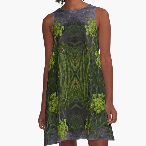 Rock Samphire, Inishmore, Aran Islands A-Line Dress