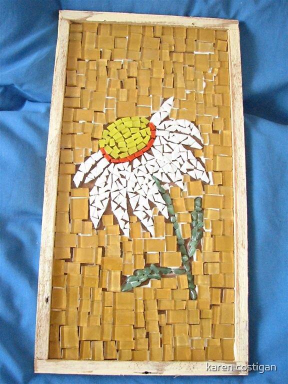 mosaic wall haning by karen costigan