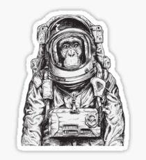Monkey Astronaut Sticker