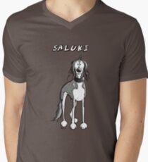 Cute Saluki Dog Cartoon Men's V-Neck T-Shirt