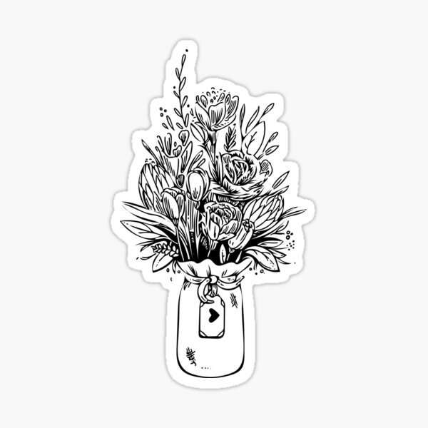 Bouquet of Flowers Sticker