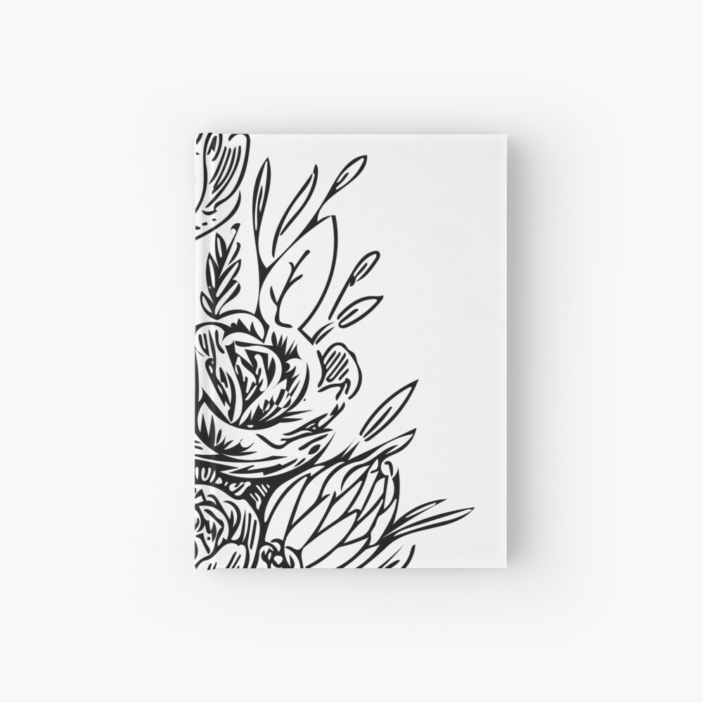Bouquet of Flowers Hardcover Journal