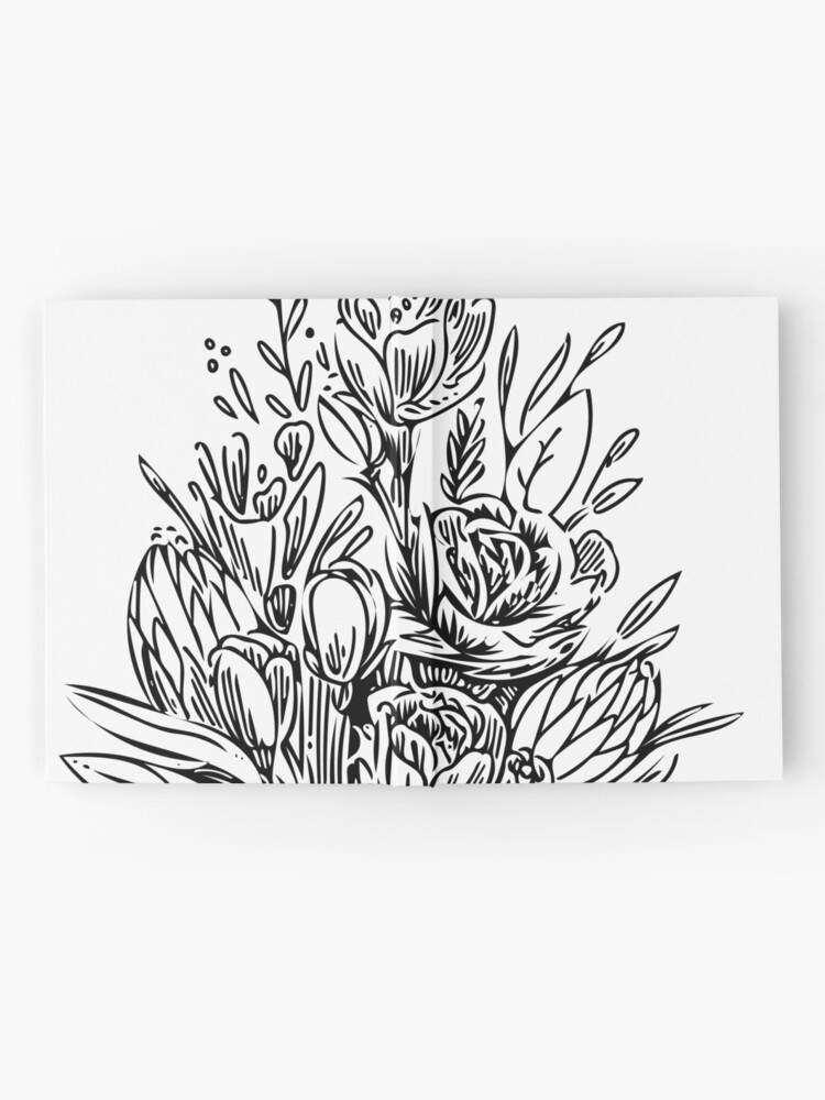 Alternate view of Bouquet of Flowers Hardcover Journal