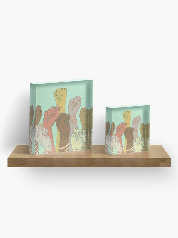 Alternate view of together Acrylic Block
