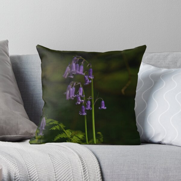 Two Bluebells in Prehen Woods, Derry Throw Pillow