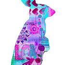 Love Rabbit Mixed Media Silhouette by MandalaArts
