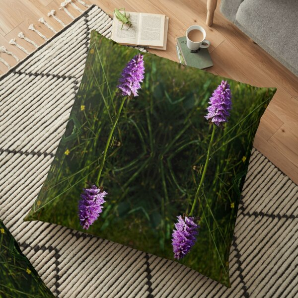 Spotted Orchid, Kilclooney, Donegal Floor Pillow
