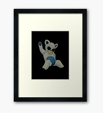 Teddy Skeleton Framed Print