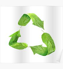 """Ecology friendly symbol """"Go green"""" Poster"""