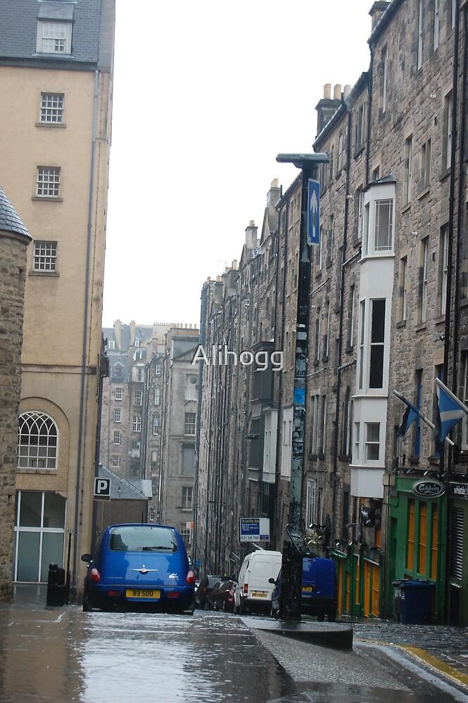 A street in Edinburgh  by Alihogg