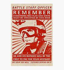 Battle Staff Officer Photographic Print