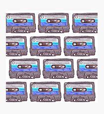 Cassette Tape *Dark Blue Photographic Print