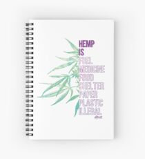 Hemp is Spiral Notebook