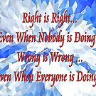 Right is Right! by WhiteDove Studio kj gordon