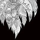 Satya (Truth) Black & White  by YogaLYFE