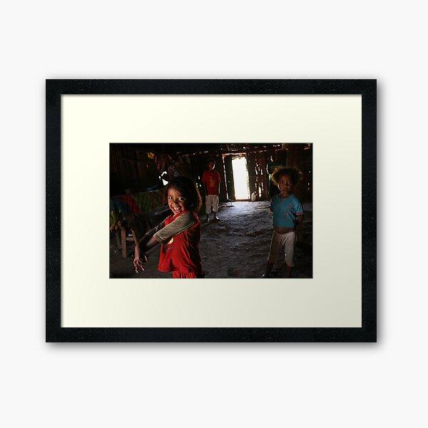Mazarela and family by Luigi Acquisto Framed Art Print