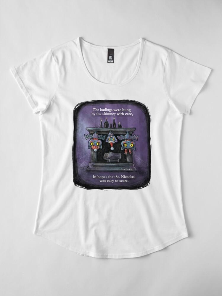 Alternate view of Holiday Batlings Premium Scoop T-Shirt