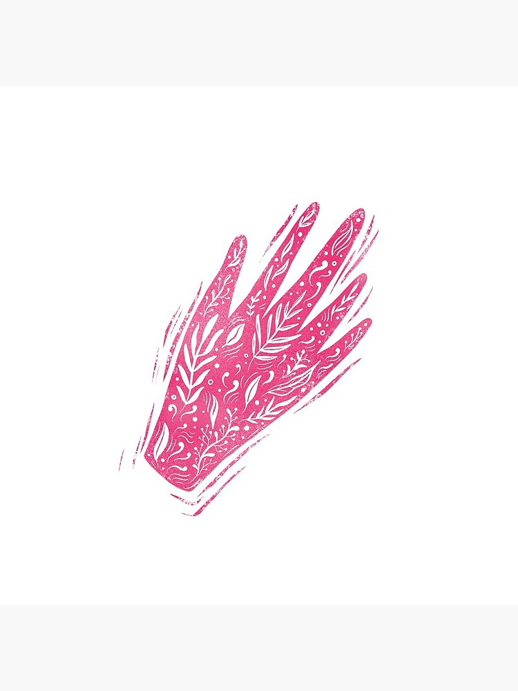 Decorative pink hand by mirunasfia