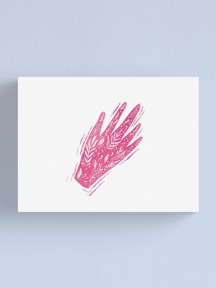 Alternate view of Decorative pink hand Canvas Print