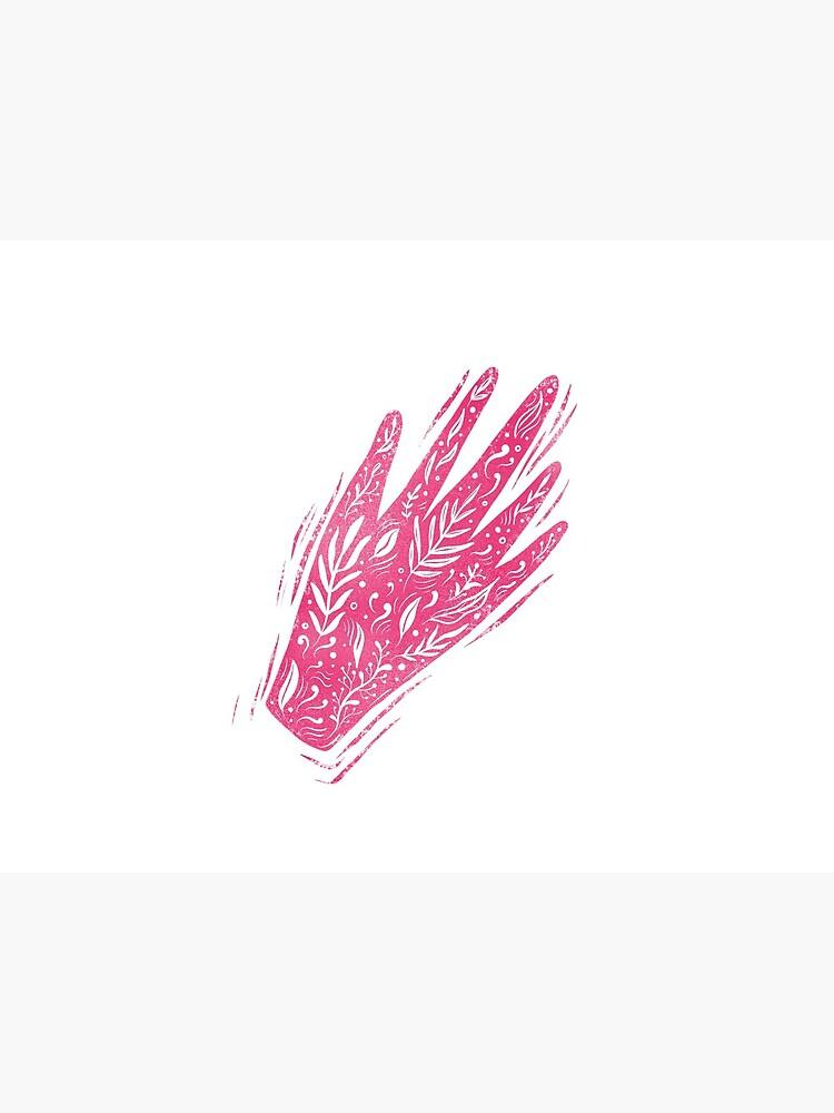 Decorative pink hand by mirunasfia