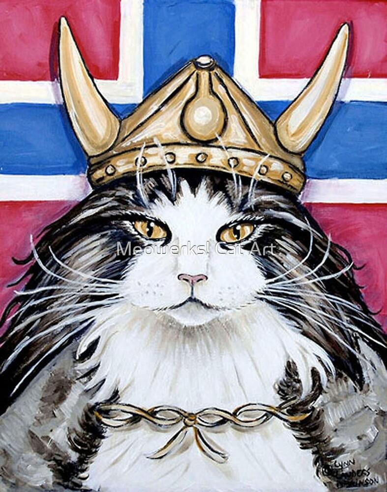 Viking Norwegian Forest Cat by Meowerks! Cat Art