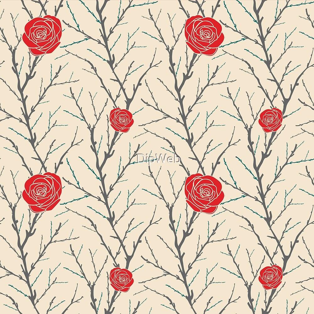 Branch & Roses by DipWeb