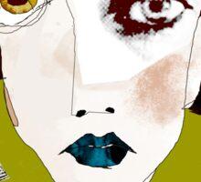 « la fille aux cheveux noirs » Sticker