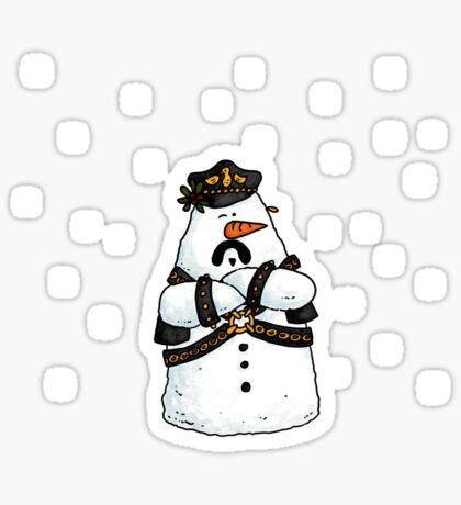 Leather daddy snow man Sticker