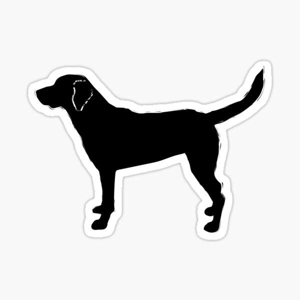 Black Lab Retriever Pattern Sticker