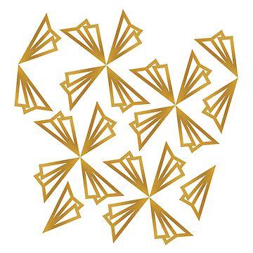 Paper Airplanes Like Ginko Leaves by craftyordie