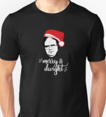 merry & dwight The Office Schrute Christmas T-Shirt