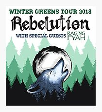 REBELUTION-The Winter Greens-Tour 2018 Photographic Print