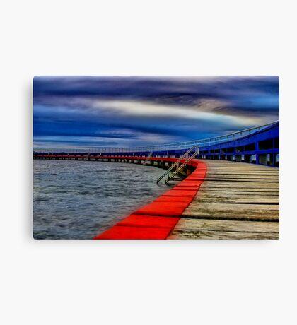 """Evening on the Promenade"" Canvas Print"