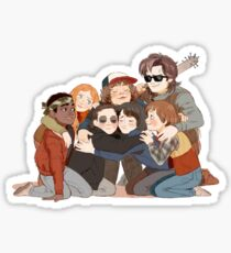 Steve Hugging Kids-Stranger Things Sticker