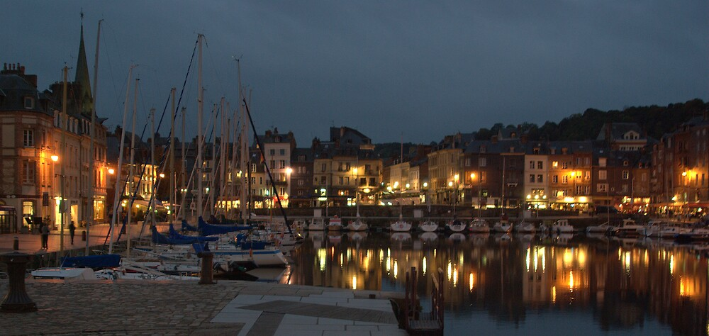 Honfleur at night by John Thurgood