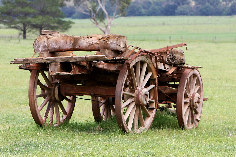 Old Wagon by Lindsay Knowles