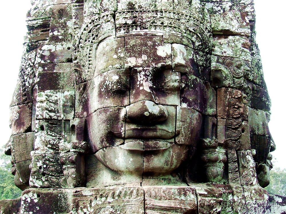 Faces of Bayon. by strutty