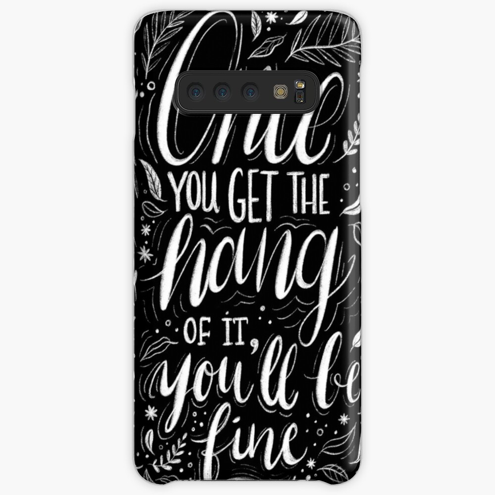 Once you get the hang of it, you'll be fine Case & Skin for Samsung Galaxy