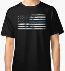 Blue Line (White) Classic T-Shirt