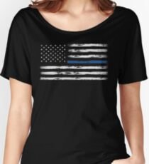 Blue Line (White) Women's Relaxed Fit T-Shirt