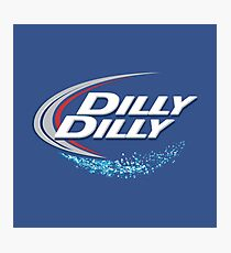 Dilly Dilly Mens Beer Design Photographic Print