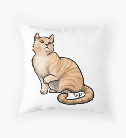 Big Tabby Cat Throw Pillow