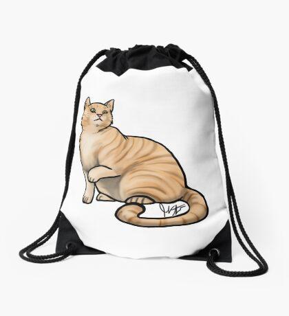 Big Tabby Cat Drawstring Bag