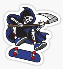 Skateboarding Grim Reaper Sticker