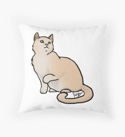 Big Yellow Cat Throw Pillow
