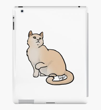 Big Yellow Cat iPad Case/Skin