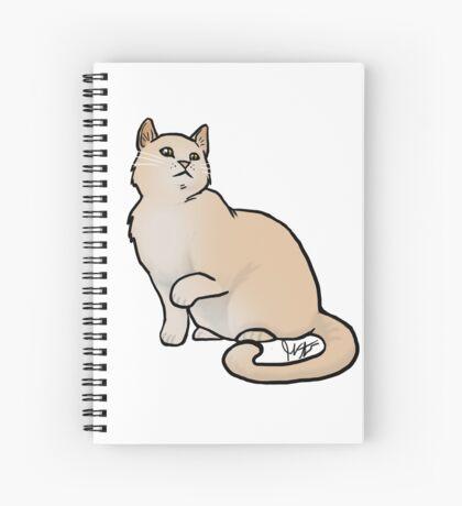Big Yellow Cat Spiral Notebook