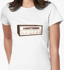 Cool, Retro, Vintage Radio/Amplifier Womens Fitted T-Shirt