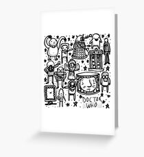 Doctor Who doodle Greeting Card